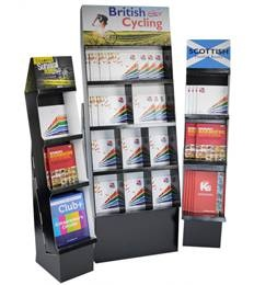 corrugated book display carton book stands